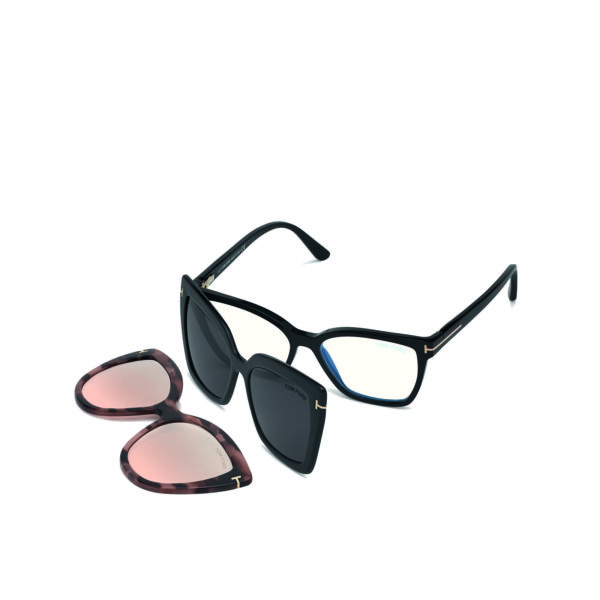 TOM FORD FT5641 B BLUE CONTROL 2x SUN CLIPS-ON - 1/5