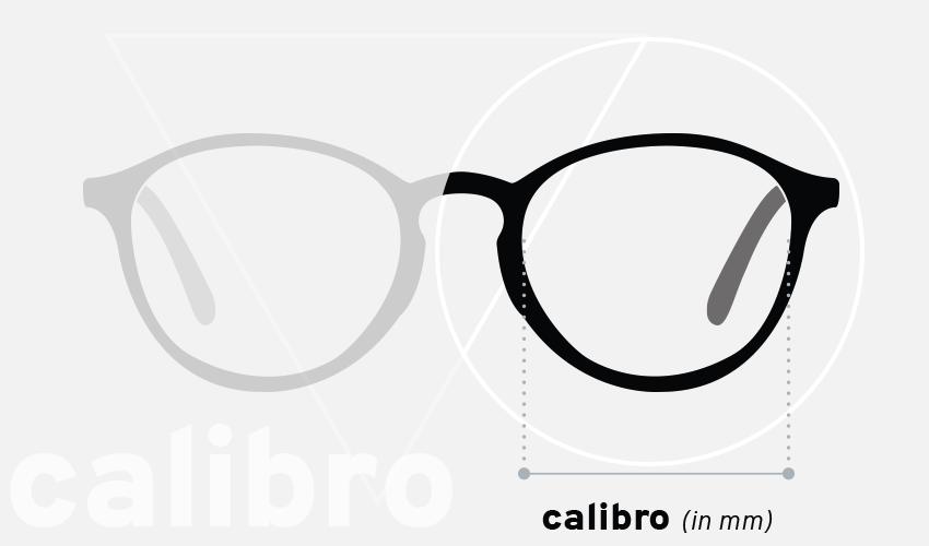 Misure degli occhiali: calibro