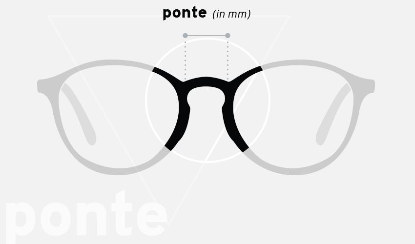 Misure degli occhiali: ponte