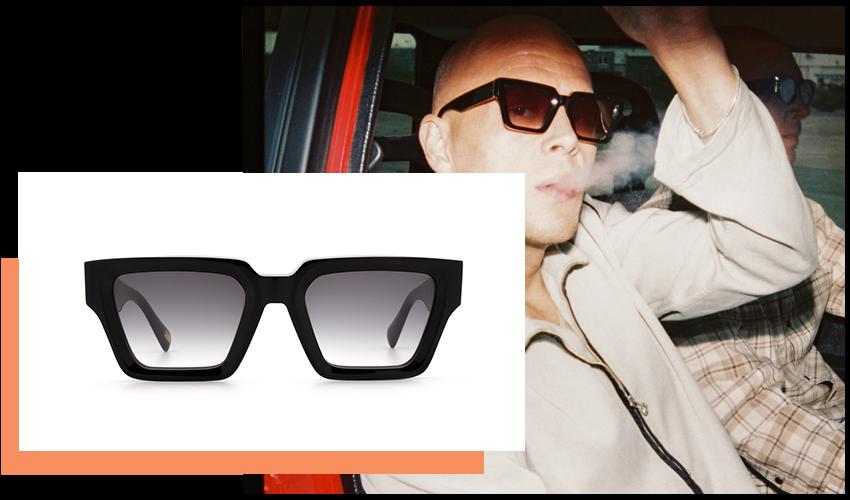 Occhiali da Sole Chimi Eyewear, modello Craftmanship Square, colore Black.