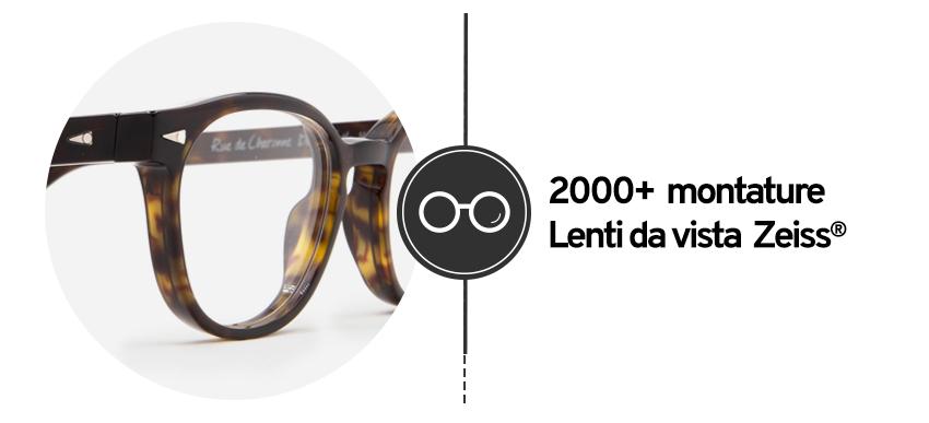 Montature per Occhiali da Vista completi Online: Lenti Graduate Zeiss® e Filtri protettivi.