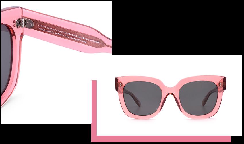 Occhiali da Sole Chimi Eyewear, modello #008, colore Guava Pink.