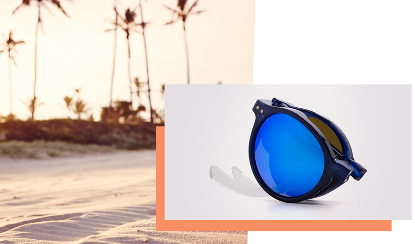Sunglasses with side shades: Sun's Good ® The Oyster